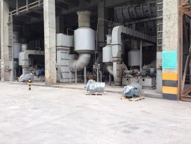 某水泥厂电机节能改造之前现场