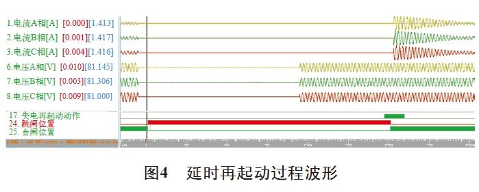 图4 延时再起动过程波形