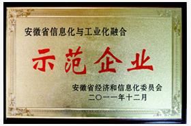 long8龙8国际首页龙8国际欢迎您:安徽省信息化与工业化融合示范企业