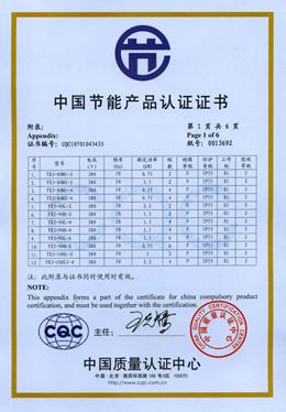 皖南电机:YX3高效节能认证